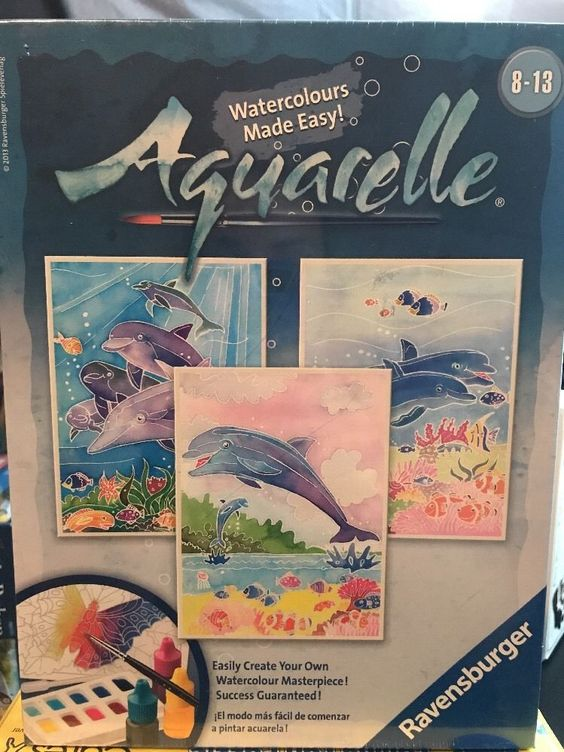 Ravensburger Aquarelle Dolphins Arts And Crafts Kit Ebay Arts