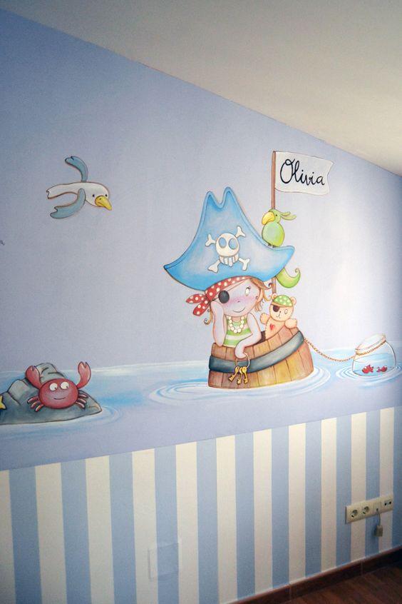 Mural piratas para habitacion infantil en madrid jpg 900 - Mural habitacion infantil ...