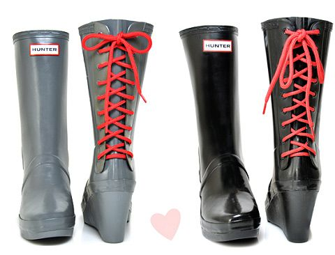 Hunter Verbier Wedge Rain Boots $175 (but don't buy these at full price, you can find them online half off)