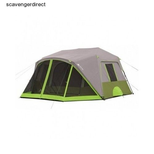 Ozark Trail Cabin Tent 9 Person Instant Setup Camping Family Screen Room Outdoor #OzarkTrail