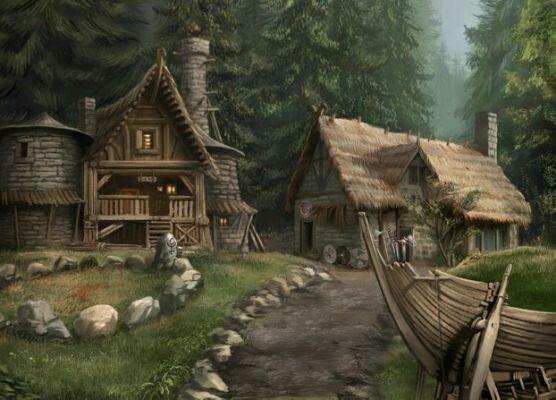 9533fcbc9cec82ec215f38f67440bb78 Fantasy Places Viking Village Art Jpg Fantasy Village Fantasy City Fantasy Town