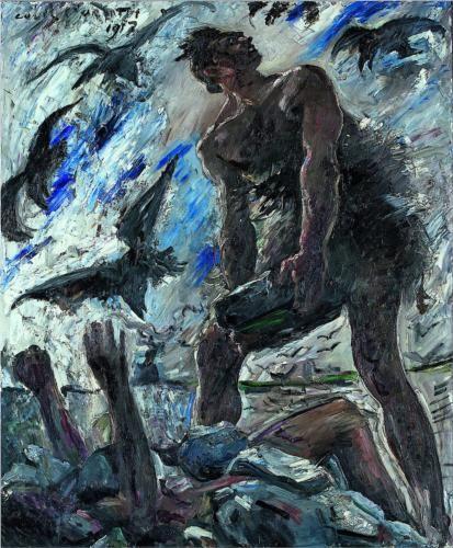 Lovis Corinth. Caïn 1917. Huile sur toile 140 x 115 cm
