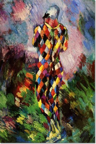 Arthur Burdett Frost Jr - Harlequin 1914 Painting