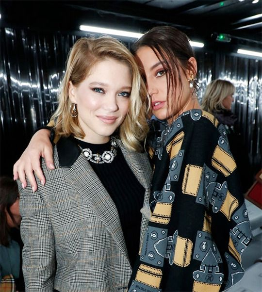 Lea Seydoux And Adele Exarchopoulos Attends The Louis Vuitton Show