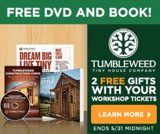 2-Day Tumbleweed Tiny House Workshops Sale