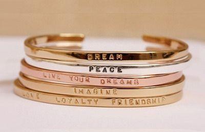 stacked bracelets <3