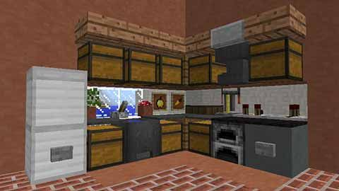 マインクラフト マイクラ 基本のキッチンの作り方や小技 いろいろな