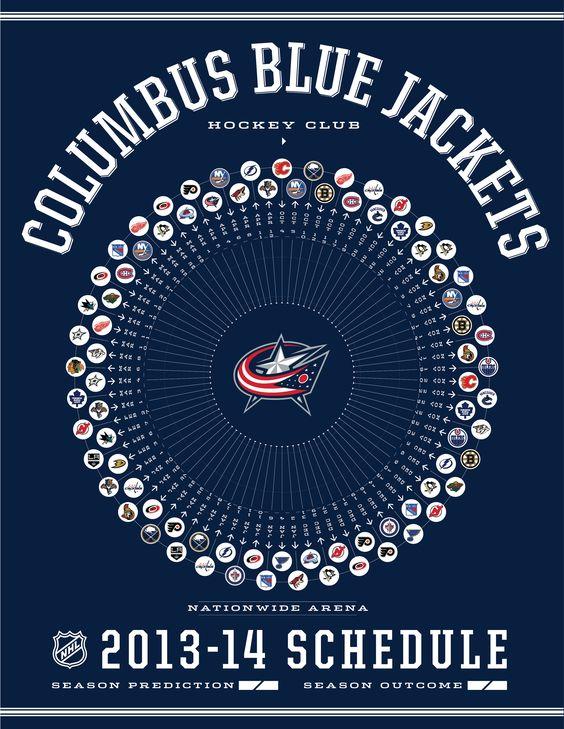 Columbus Blue Jackets 2013-14 Schedule | Hockey | Pinterest