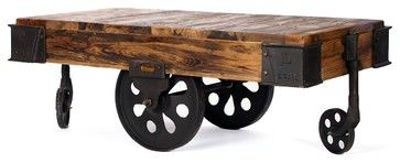 Sonoma Factory Cart - eclectic - coffee tables - los angeles - CRASH Industrial Supply