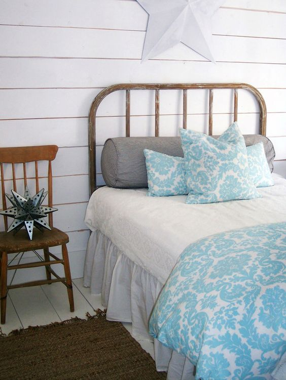 Coastal and Cottage Mix    Cottage style and coastal design are similar — they both feature timeworn accessories, weathered furniture and soft color palettes. The whitewashed pine plank wall in RMS user homemom's guest bedroom has a beach-house look.