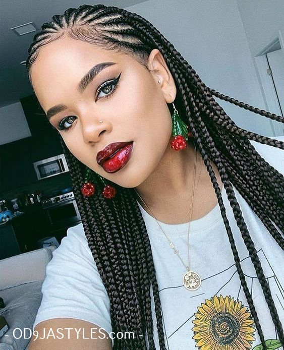 20 Braided Hair Styles 2020 Pictures Of Braid Styles You Should Try Next Od9jastyles Braids For Black Hair African Braids Hairstyles Hair Styles