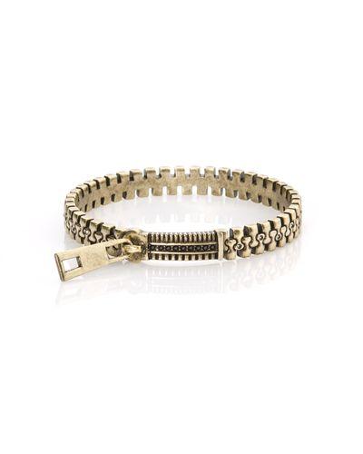 Bronze Zip Bracelet