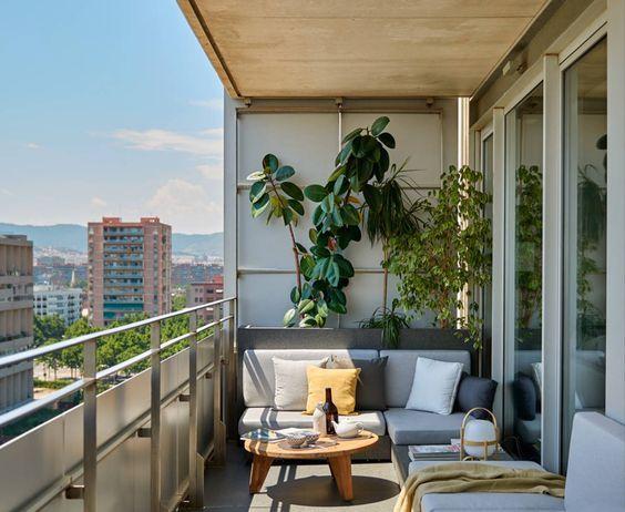Terrazas Pequeñas Modernas En 2020 Balcón Moderno