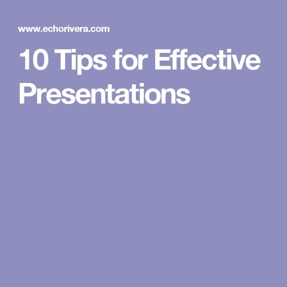 Tips For Effective Presentations  Evaluation Reporting