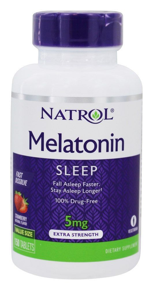 Melatonin Sleep Extra Strength Fast Dissolve Strawberry 5 Mg