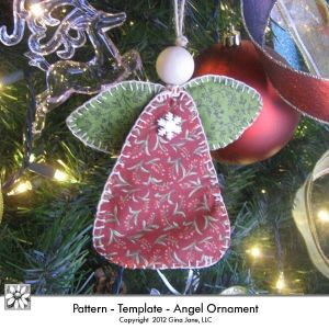 Angel Ornament - Hand Sewn - Stitched Fabric Country Primitive Angel Pattern - Gina Jane Designs - DAISIE Company