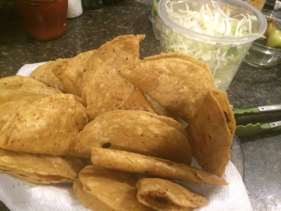 Tacos dorados papa de antojo
