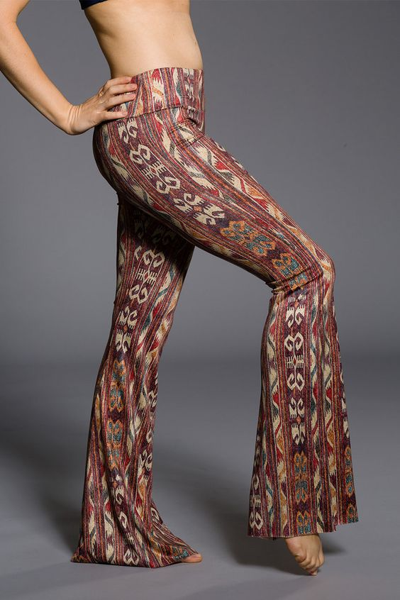 Onzie Bell Bottoms Pant - Warm Tribal Yoga Festival Pant Made in USA