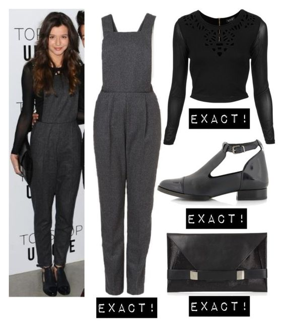 """Eleanor Calder"" by dreamlifeoutfits ❤ liked on Polyvore featuring Topshop and Unique"