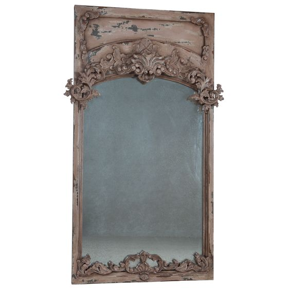 Ornate French Trumeau Mirror - vintage french style