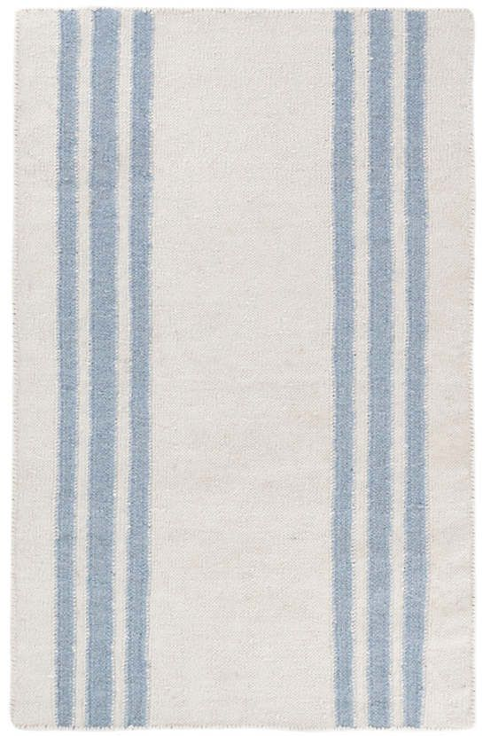 Farmhouse Stripe Woven Linen Rug The Outlet Blue Striped Rug Blue Area Rugs Dash And Albert