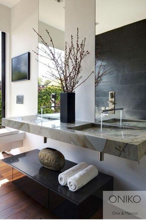 Mueble para baño en Mármol verde síguenos en httpswwwfacebook