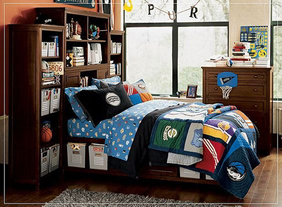 like the headboard...clutter free room!