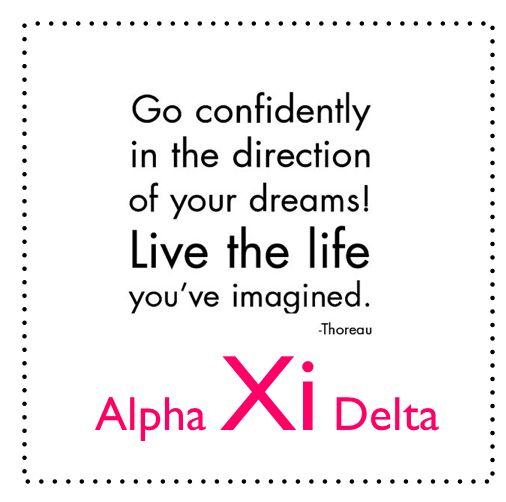 Alpha Xi Delta: quotes