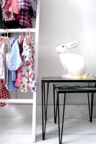 a really great idea, ladder wardrobe