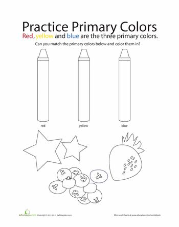 Worksheets Primary Colors Worksheet primary colors worksheets and on pinterest