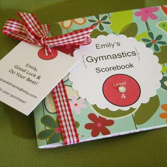 Gymnastics Score Book Scorebook for a Lucky by myknapsackdreams