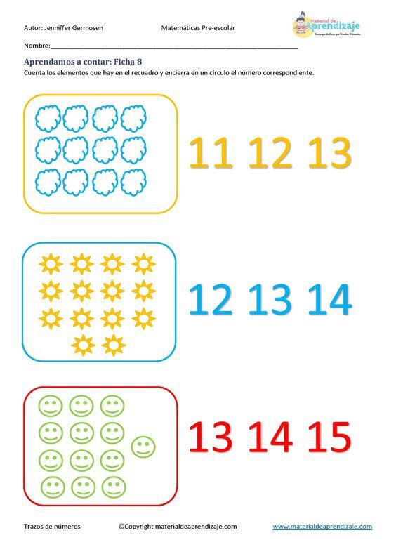 Aprender a contar: Ficha 8