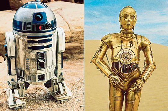 After six films the robots from the star wars movies have - Robot blanc star wars ...
