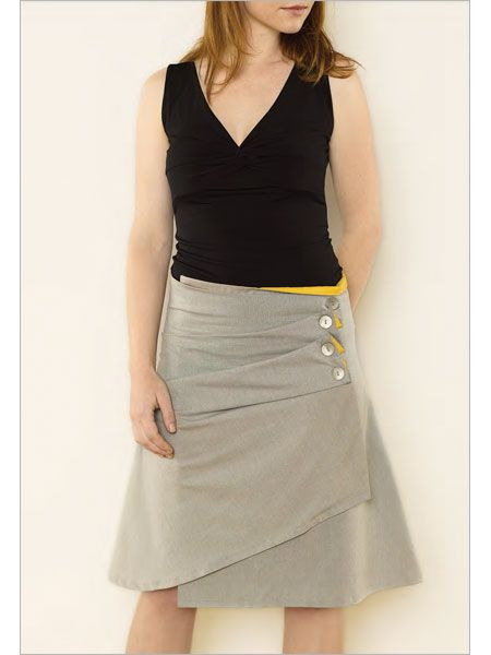 Asymmetrical Folds Skirt - Interweave