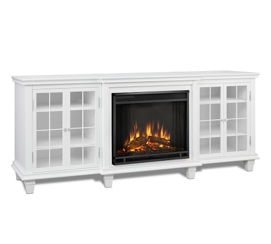 Real Flame 0174 Marlowe Electric Fireplace Media Cabinet