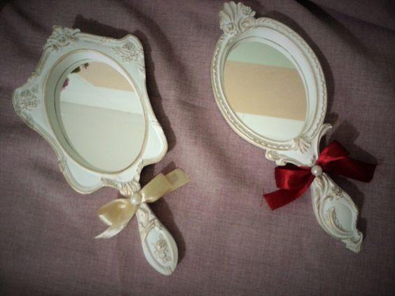 Espelho de Mão de Resina 2 unidades