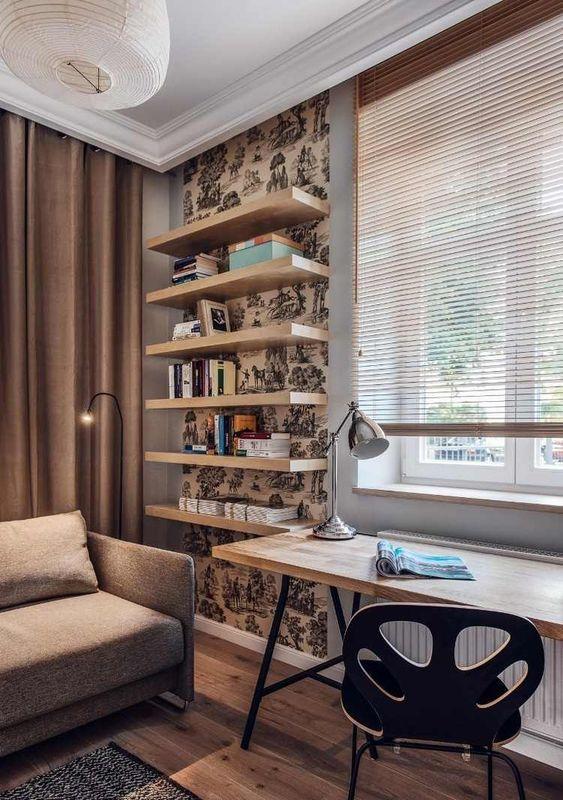 aménagement-bureau-étagères-bois-fond-toile-Jouy.jpg (750×1065)