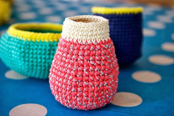 Greedy For Colour: Crochet Vessels.