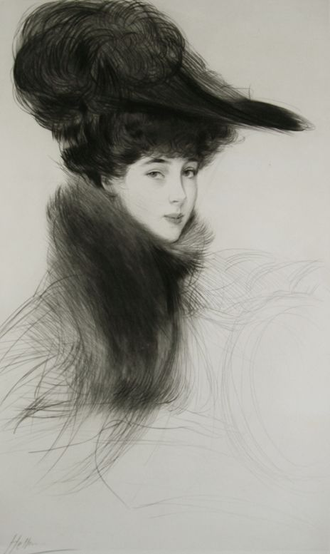 La Duchesse de Marlborough, Consuelo Vanderbilt. c. 1901. Drypoint. (She was so beautiful back then.)