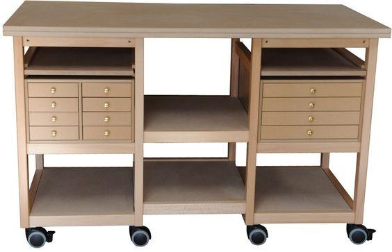 Atelier and tables on pinterest for Peinture pour table en bois tours