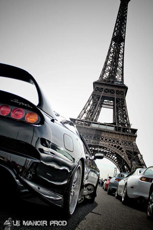 Toyota Supra In Paris Eiffel Tower