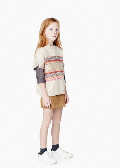 Camisola jacquard lã | MANGO KIDS