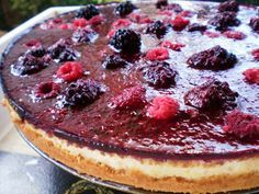 Cheesecake de Amoras e Framboesas para Valentine's Day! | Figos & Funghis