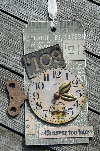 Tim Holtz: Late Tag, Tags Card, Cards Tags, Tag You Re