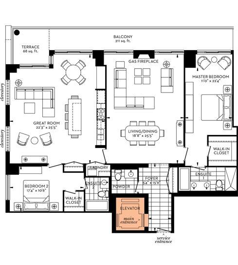 Luxury Condo Floor Plans Toronto The Davies Condo In 2020 Floor Plans Luxury Condo Condo Floor Plans
