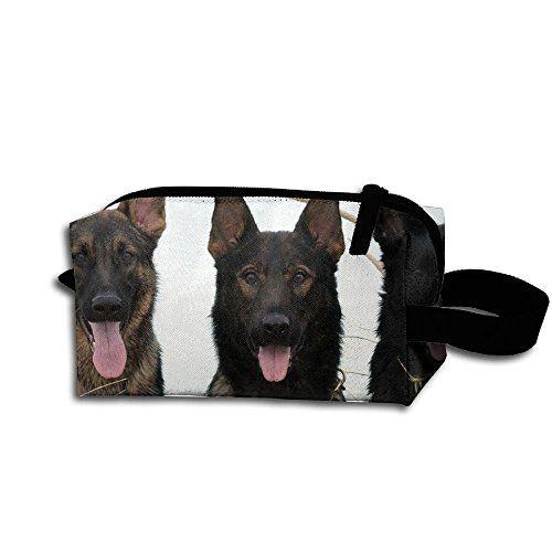 Create Magic Black German Shepherd Puppies Makeup Toiletry Bag