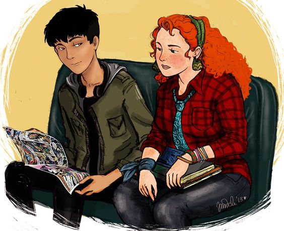 Is this how you imagined Eleanor and Park. What great fan art!: