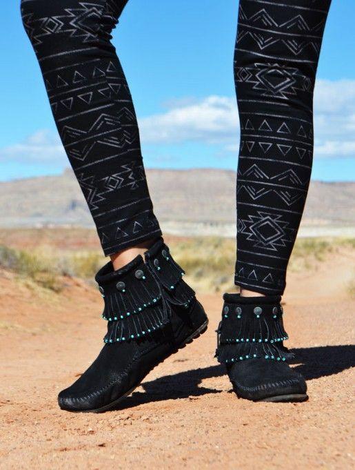 Minnetonka Diy Project Beaded Fringe Mocs Diyfashionteens Diy Fashion Trends Diy Shoes Boots