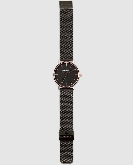 Reloj de mujer Mr. Boho Copper Jet 00728296 de acero negro