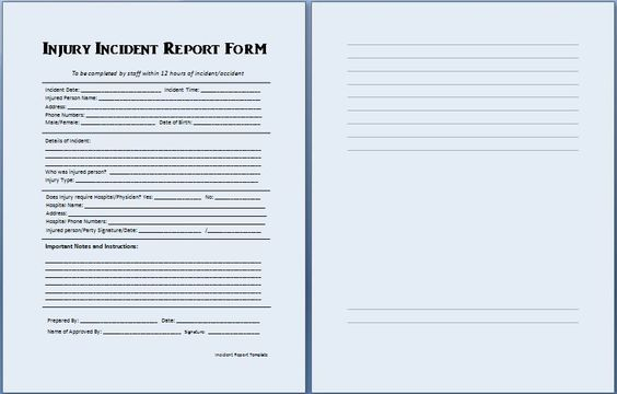 An incident report can be prepared to write details of an incident - incident report template microsoft